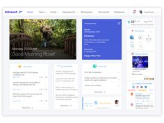 Intranet Dashboard designed by Yogesh. Connect with them on Dribbble; Sharepoint Design, Sharepoint Intranet, Intranet Design, Web Design, Layout Design, Intranet Portal, Good Morning Roses, Dashboard Design