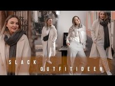 4 Business Outfit Ideas   SLACKS - YouTube Business Outfits, Slacks, Instagram, Coat, Youtube, Movies, Movie Posters, Ideas, Fashion