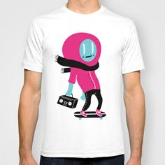 Alien on skateboard T-shirt