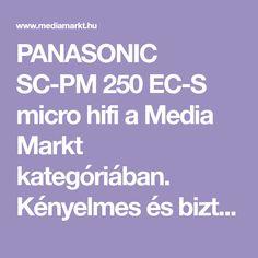 PANASONIC SC-PM 250 EC-S micro hifi a Media Markt kategóriában. Kényelmes és biztonságos online vásárlás a Media Markt webáruházban! Online Vásárlás, Usb