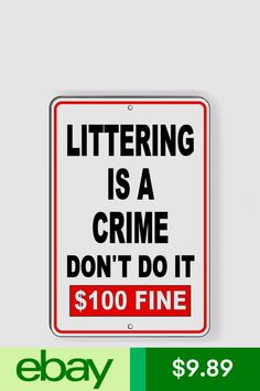 Security Signs & Decals Home & Garden Trash Quotes, Trash Dump, Aluminum Signs, Beach Signs, Crime, The 100, Decals, Sayings, Health