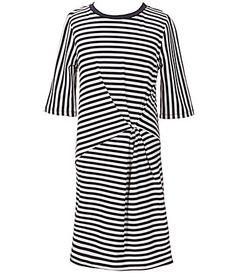 Copper Key Big Girls 716 Twisted FrontKnot Stripe Dress #Dillards