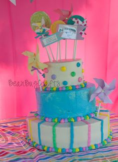 """BeanBugCrafts: Dr. Seuss """"Oh, The Places You'll Go"""" Cake"""