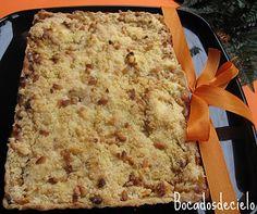 Tarta de manzana con piñones