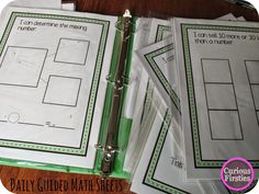 These blank templates can help to differentiate your guided math groups because the problems can be different with each use!  Quick sheets and ideas for use in this post.
