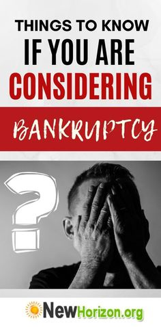 Things To Know If You Are Considering Bankruptcy Rebuilding Credit, Why People, Find A Job, Filing, Things To Know, Need To Know, Advice, Learning, Tips