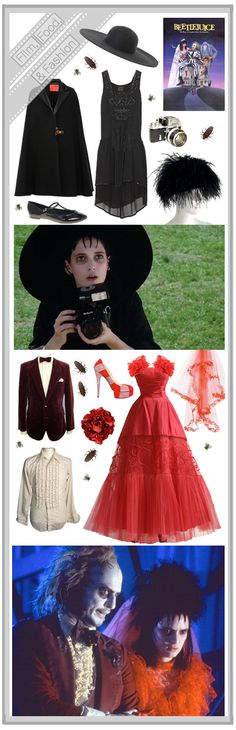 Hallowen Costume Couples An Illustrative tell all - The Chronicles - Film, Food and Fashion- Beetlejuice Lydia Beetlejuice, Beetlejuice Halloween, Halloween 2015, Happy Halloween, Halloween Party, Halloween Ideas, Gothic Halloween, Halloween Makeup, Hallowen Costume