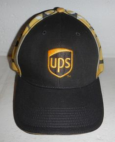 f95e41a2f0c NWOT UPS United Parcel Service Delivery Logo w  Yellow Flames Baseball Hat  Cap  fashion