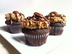 Ashley Marie's Kitchen: German Chocolate Cupcakes