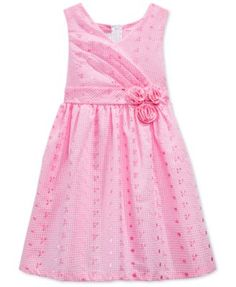 3bbcbacdff5 Bonnie Jean Little Girls  Crossover Eyelet Dress Cotton Frocks