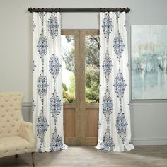 Complete your decor with these elegant Kerala curtain panels from Exclusive Fabrics and Furnishings. These panels feature a weighted hem and a shade-enhancing lining and will be the finishing touch to your home.