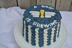 A baby is brewing #cakeonsunday #cake #babyshower #dessert #babyboy #babyisbrewing