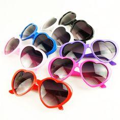 ed2e0b7d533a Fashion Retro Summer Heart Shape Design Sunglasses Eye Glasses Eyewear