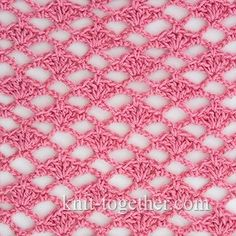 Crochet Shell Stitch and Coral - detailed description and crochet chart…