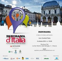 The Best Shops Rail   Railso.com & Panorama d'Italia vi aspettano questa sera alle ore 19 per  l' Icon Cocktail party!