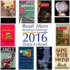 Is there a book you've always wanted to read but haven't? Now's the time to read that book! Here are a few books you may have put off reading. #readmore2016 #wanttoread