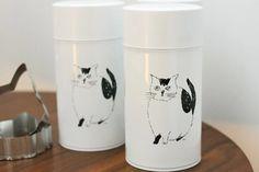 松尾ミユキデザイン「猫柄 コーヒー缶」
