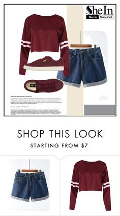 """""""shein"""" by gggg325 ❤ liked on Polyvore featuring Puma"""