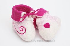 Babyschuhe,+Filz,+Taufschuhe+von+Mafiz+auf+DaWanda.com
