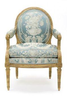 Fauteuil à la reine, 18th c. (2eme moitié); France; beech. Menuisier: Jean-Baptiste-Claude-Sené. Les Arts Décoratifs (MOB NAT GME 1549) Provenance: château de Fontainebleau