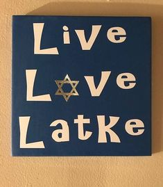 Handcrafted from wood this adorable Live Love Latke Sign is perfect for your Hanukkah Decorations. Happy Hannukah, Feliz Hanukkah, Hanukkah Crafts, Jewish Crafts, Hanukkah Decorations, Holiday Crafts, Holiday Fun, Hanukkah Harry, Jewish Hanukkah
