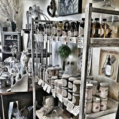 Apothecary #display - bath & body products