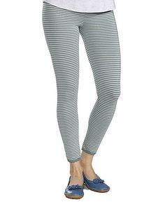 Deerberg cropped leggings Carla, jade/striped