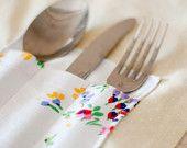 Set of 4 Tablemats with Cutlery Pouch / Kit de 4 Individuais com Bolsa para Talheres