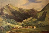 Landscape at Vigerie, valley Santoire, Auvergne - Theodore Rousseau