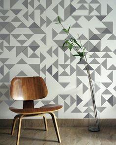 Ideas wallpaper pattern geometric pattern wall
