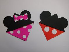 Mickey & Minnie Mouse Corner Bookmarks by bROnWEndesigns on Etsy