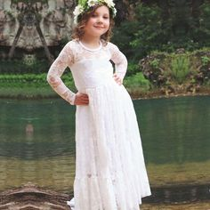 Princess Girl Tulle Lace Dress Kids Dresses For Girls Party Wear Wedding Gown Children Long Prom Dress