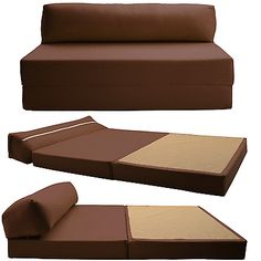 Cotton Double Chair Bed Z Guest Fold Out Futon Sofa Chairbed Matress Foam Gilda