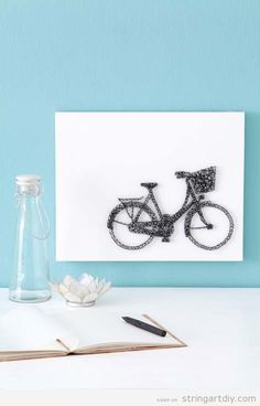 Hi everyone! Here you have just another great String Art to decorate a cafe, a trendy shop or just a wallroom at your home. It's even more wonderful if you are a bicyle lover. You can see the…