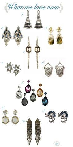 Our Top Ten Top Ten Estate Inspired Wedding Earrings, curated by the bridal stylists at Merci New York