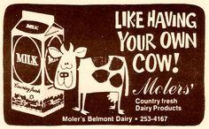 Moler's Dairy, Dayton, Ohio Dayton Ohio, Good Ole, Local History, Historical Photos, Childhood Memories, King Cole, Ephemera, Roots, Gem