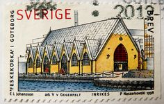"beautiful stamp Sweden Inland Brev (Gothenburg, fish church (market), Fischhalle ""Feskekörka"", Göteborg) Scania frimärken Sverige postage Sv..."