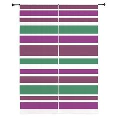 Curtains 60x84 home decor bold purple green stripes #cafepress #stripes #decor #trends