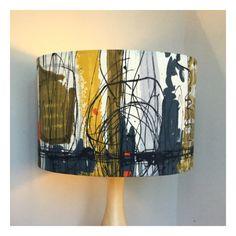 Handmade Vintage 50s David Whitehead Fabric Lampshade 35cm x 24cm