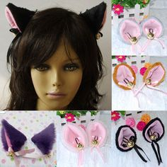 Costumes & Accessories 1 Pair Hot New Sweet Funny 6 Colors Bell Cat Ears Hair Clip Cosplay Anime Costume Halloween Birthday Party Hair Accessories Strong Resistance To Heat And Hard Wearing