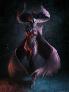 Harpy Queen Picture  (2d, fantasy, concept art, queen, creature, wings, feathers, harpy)