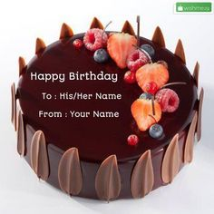 Birthday Chocolate Velvet Decorated Cake With Your Name.Name on Cake For Birthday Wishes.Online Cake Name Pics Generator.Edit Cake Photo With Name For Whatsapp Cake Name Edit, Write Name On Cake, Birthday Cake Write Name, Online Birthday Cake, Birthday Wishes With Name, Birthday Cake Writing, Happy Birthday Wishes Cake, Birthday Cake For Him, Happy Birthday Cake Images