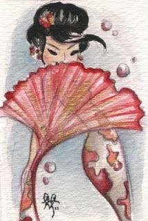 Geisha Koi Mermaid ♥ The Art of Liana Hee ♥