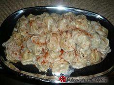 Μαντί ποντιακά πειραγμένα The Kitchen Food Network, Greek Cooking, Greek Recipes, Different Recipes, Dumplings, Pasta Dishes, I Foods, Food Network Recipes, Shrimp
