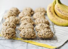 Banana Oat Breakfast Cookies - Baked Bree -- I'd leave out the chocolate. Breakfast And Brunch, Oatmeal Breakfast Cookies, Breakfast Cookie Recipe, Banana Oatmeal Cookies, Breakfast Biscuits, Oat Cookies, Peanut Butter Banana Oats, Peanut Butter Chips, Banana Nut