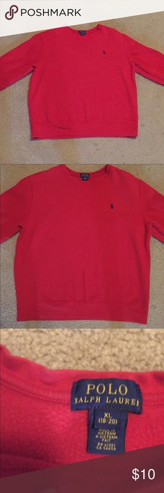 Polo Ralph Lauren Boys XL Red Long Sleeve Shirt Size: Kids (Boys) XL (18-20) LONG SLEEVE, Color: Red, Design: Plain, Measurements: See Pictures 🔥 Excellent Condition, Smoke-Free Home 🏡 SHIPS FAST.. NEXT DAY 👌🏽 Polo by Ralph Lauren Shirts & Tops Sweatshirts & Hoodies