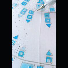 Snowy Winter scene... Little Snowflake, Silk Painting, Winter Scenes, Silk Scarves, Wearable Art, Snowflakes, Original Art, Hand Painted, Photo And Video