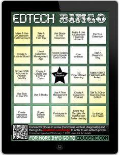 Ed Tech Bingo: http://www.edudemic.com/play-edtech-bingo-win-ipad-more/