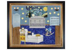Van Goghs Starry Night Nursery by anniebelle7   Olioboard thelandofnod.com