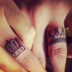 Wedding Band Tattoo Images 38 Best King and queen wedding